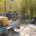 blåsning av fiber i Låstad